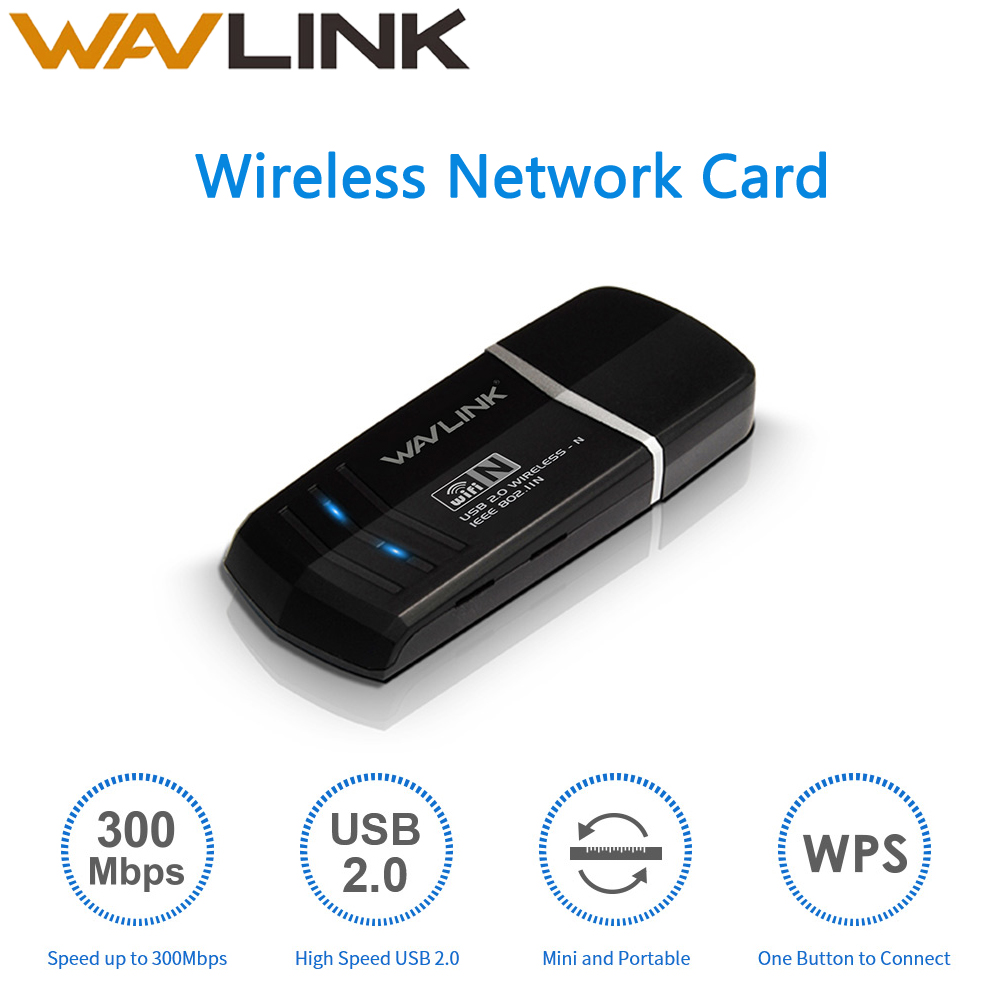 Wavlink Mini N300 Wi-Fi Dongle Adapter Wireless Network Card Wifi USB WPS IEEE802.11b/g/n For Windows XP/Vista/7/8/8.1/10 MAC OS