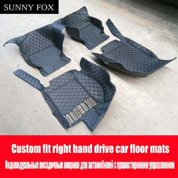 SUNNY FOX Right hand drive/RHD car car floor mats for Mitsubishi Lancer Galant ASX Pajero sport V93 car styling all weather carp image