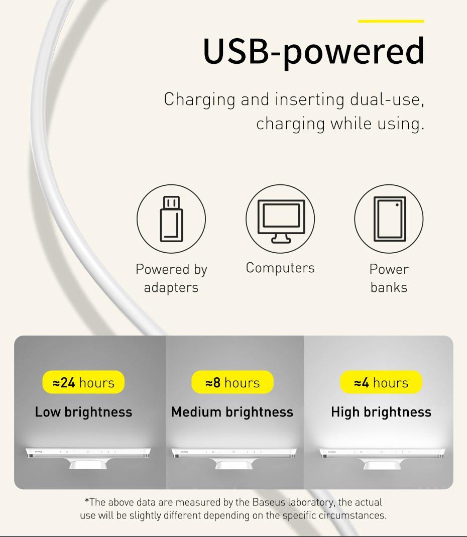Baseus Magnetic Stepless Dimming Charging Desk Lamp Pro 5