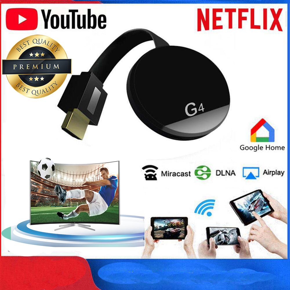 HDMI Wireless Display Wecast4 G4 For Android IOS YouTube Google Chrome Airplay Support 4G Cellular Data Casting Media Streamer