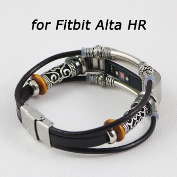 For Fitbit Alta HR Band Retro Leather Replacement Wristband Bracelet for Fitbit Alta HR Smart Watch Strap Correa Accessories