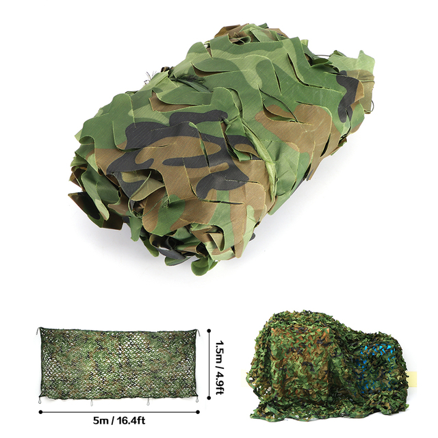 Hunting Camouflage Net Outdoor Blind Tree Stand Waterproof Rot-Resistance Mould-Resistance Suitable War Game Sports Camping 4