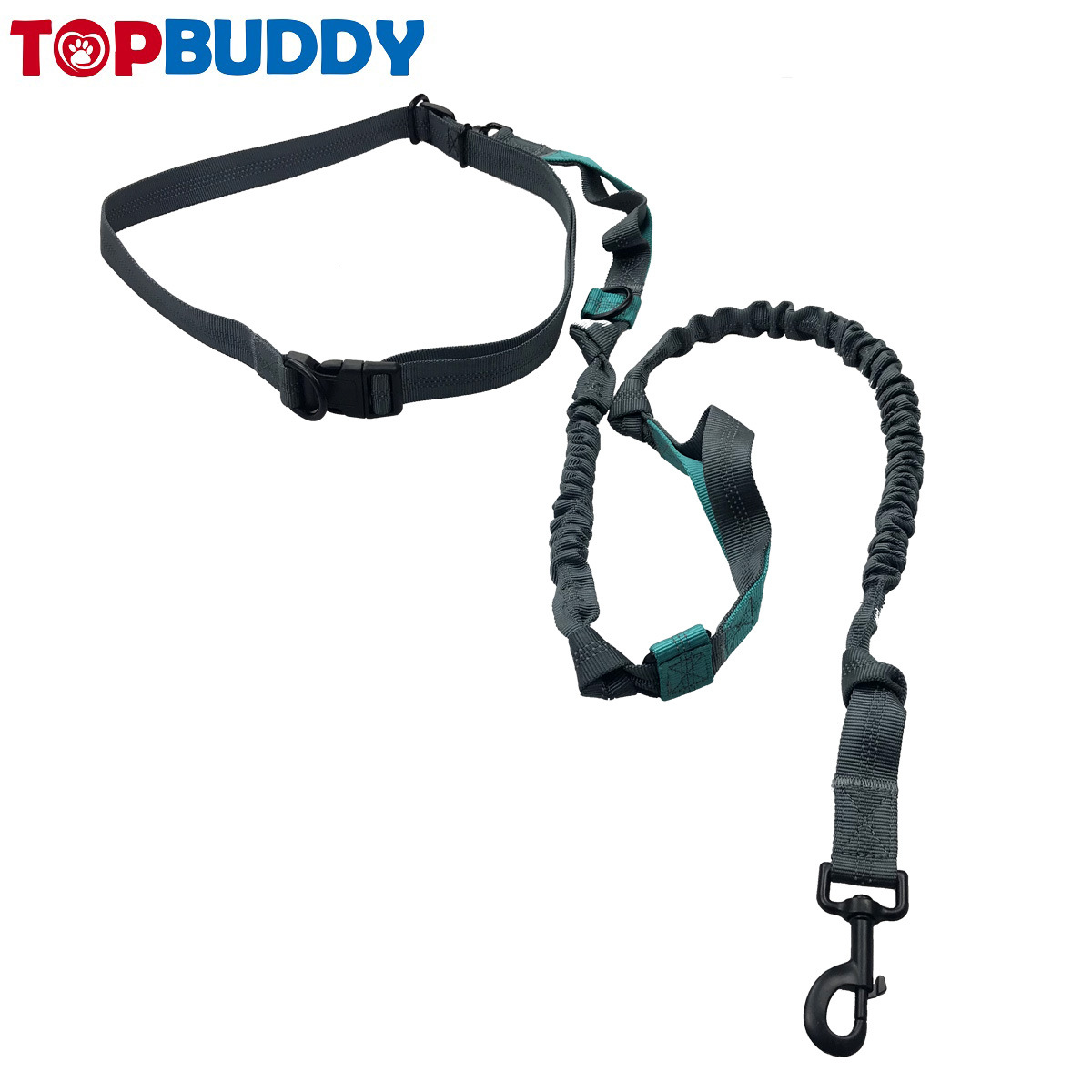 Zhiyou Brand Running Reflective Sling Dog Sports Hand Holding Rope Multi-functional Double Elasticity Traction