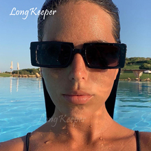 2020 Brand Design Rectangle Sunglasses Trendy Black Green Gl