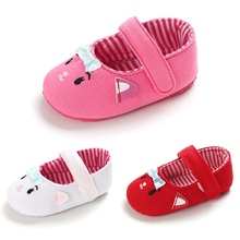 Baby Girl First Walkers Shoes Cartoon Print Anti-Slip Casual
