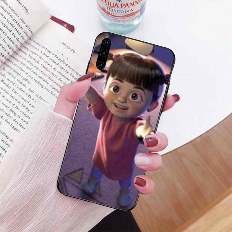 PENGHUWAN chica de monstruos inc suave de silicona negro Funda del teléfono para Huawei P30 P20 lite amigo 20 Pro lite P Smart 2019