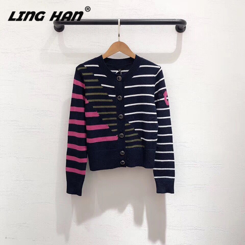 LINGHAN Wool Cardigancardigan Fashion High Quality Knitted Cashmere Sweater Top Soft Warm Women's Sweater Autumn And Winte New