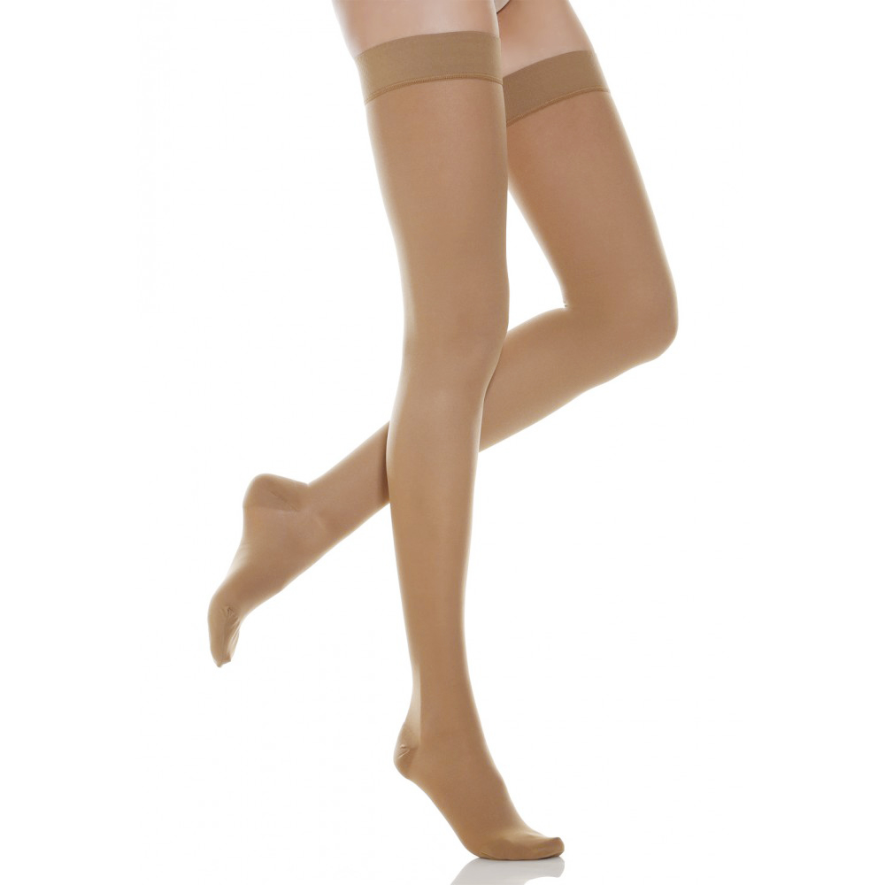 Compression Socks 30-40 mmhg Thigh High Stockings for Women & Men - Medical Support Hose Treatment Varicose Veins Swelling Edema