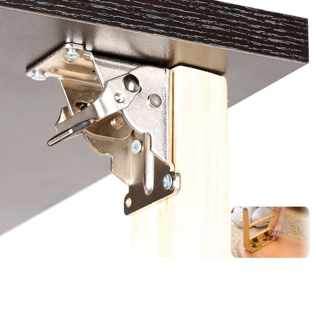90 Degrees Folding Cabinet Door Hinges Dining Table Lift Support Connection Cabinet Hinges Furniture Hardware Accessories
