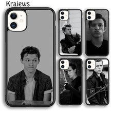 Krajews tom holland capa de telefone macio para o iphone 5 se 6s 7 8 plus 11 12 pro x xr xs max samsung galaxy s8 s9 s10 plus