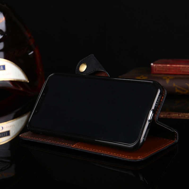 الفاخرة حافظة جلدية بظهر انسيابي لسامسونج غالاكسي A5 A6 A7 A8 A9 A10 A10 A20E A30 A40 A50 A60 A70 محفظة فتحة بطاقة الهاتف غطاء