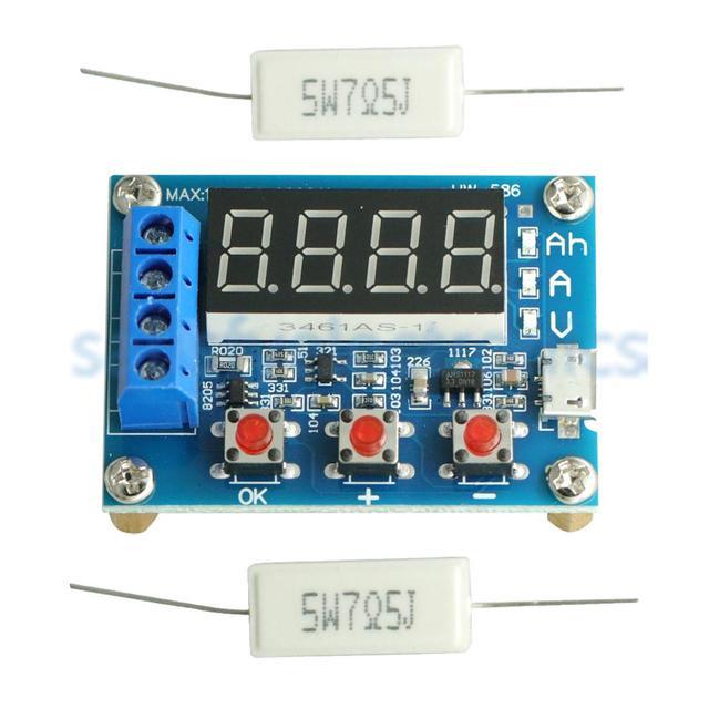 HW 586 1.2v 12v 18650 Li ion Lithium batterie capacité testeur résistance plomb acide batterie capacité mètre décharge testeur