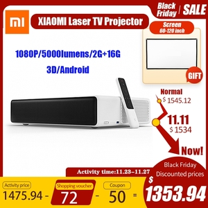 Xiaomi MIJIA Laser Projector Full HD 1080P Android TV 5000 Lumens ALPD Prejector 1920 x 1080 Wi-Fi bluetooth