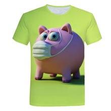 2020 летние футболки с круглым вырезом и единорогом красочная