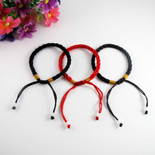 1pc Hot Sale 2019 Fashion Red Thread String Bracelet Lucky Green Handmade Rope for Women Men Jewelry Lover Couple