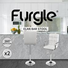 Furgle Bar Stools 2pcs/Set Bar Chair Height Adjustable Bar Chair 360° Swivel Kitchen Dining Chair with Armrest Dining Chair