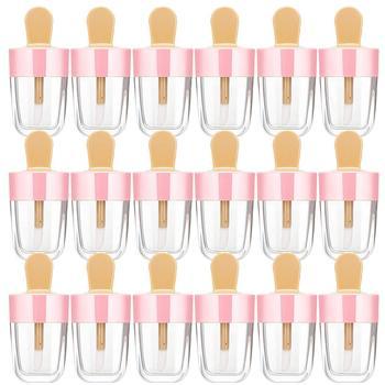 20 sztuk 8 ML jasne lody błyszczyk rury pusty balsam do ust Mini pudełko na balsam do ust DIY wielokrotnego napełniania butelka kosmetyczna do szminki tanie i dobre opinie