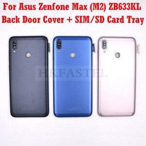 Чехол для Asus Zenfone Max (M2) ZB633KL, задняя крышка аккумулятора, корпус для сим-карты, слот для карты памяти SD, кнопка регулировки громкости, объектив ...