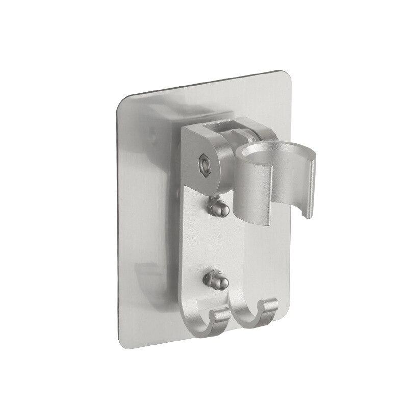 Hole-Punched Alumimum Shower Base Traceless Hook Adjustable Bathroom Shower Faucet Nozzle Alumimum Holder