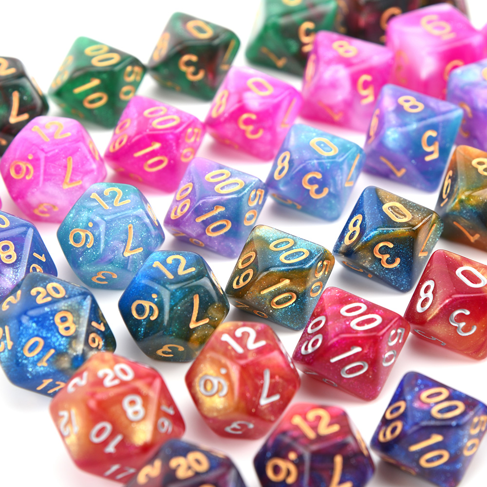 Dice-Set Games Polyhedral-Dice Nebula Dragon-Eye-Bag Tabletop Dnd D6 D20 Rpgs D4 42pcs