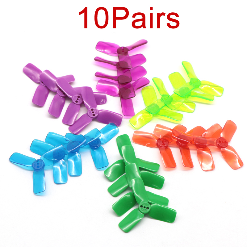 10Pairs 2030 Mini Propeller 1104 <font><b>1102</b></font> Brushless <font><b>Motor</b></font> 2 Inch Paddle PC L R Prop DIY Spare Parts for RC Racing FPV Drone image