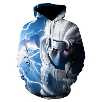 Fashion Anime Naruto Hoodies Men/Women Winter New 3D Hoodies Oversized Sweatshirts Naruto Hatake Kakashi 3D Hooded Men Clothing 1