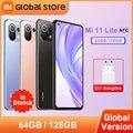 Глобальная версия Xiaomi Mi 11 Lite 6 ГБ 64 Гб/128 ГБ NFC 4G Смартфон Snapdragon 732 Octa Core 64MP Автомобильная камера заднего вида 157 г свет