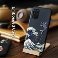 Para Samsung Galaxy S20 Ultra S10 S10e Note 10 Plus 5G Funda mate en relieve 3D LICOERS Funda oficial para Galaxy S10 + Funda