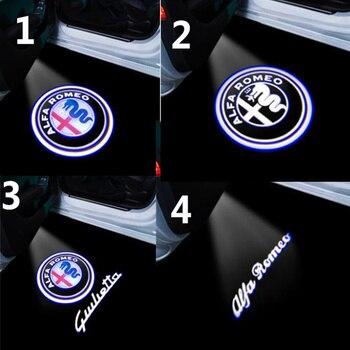 2PCS For Alfa Romeo 159 156 Giulietta Mito Stelvio Giulia Spider Brera Car Led Door Welcome Light Logo Projector Laser Lamp - discount item  44% OFF Car Lights