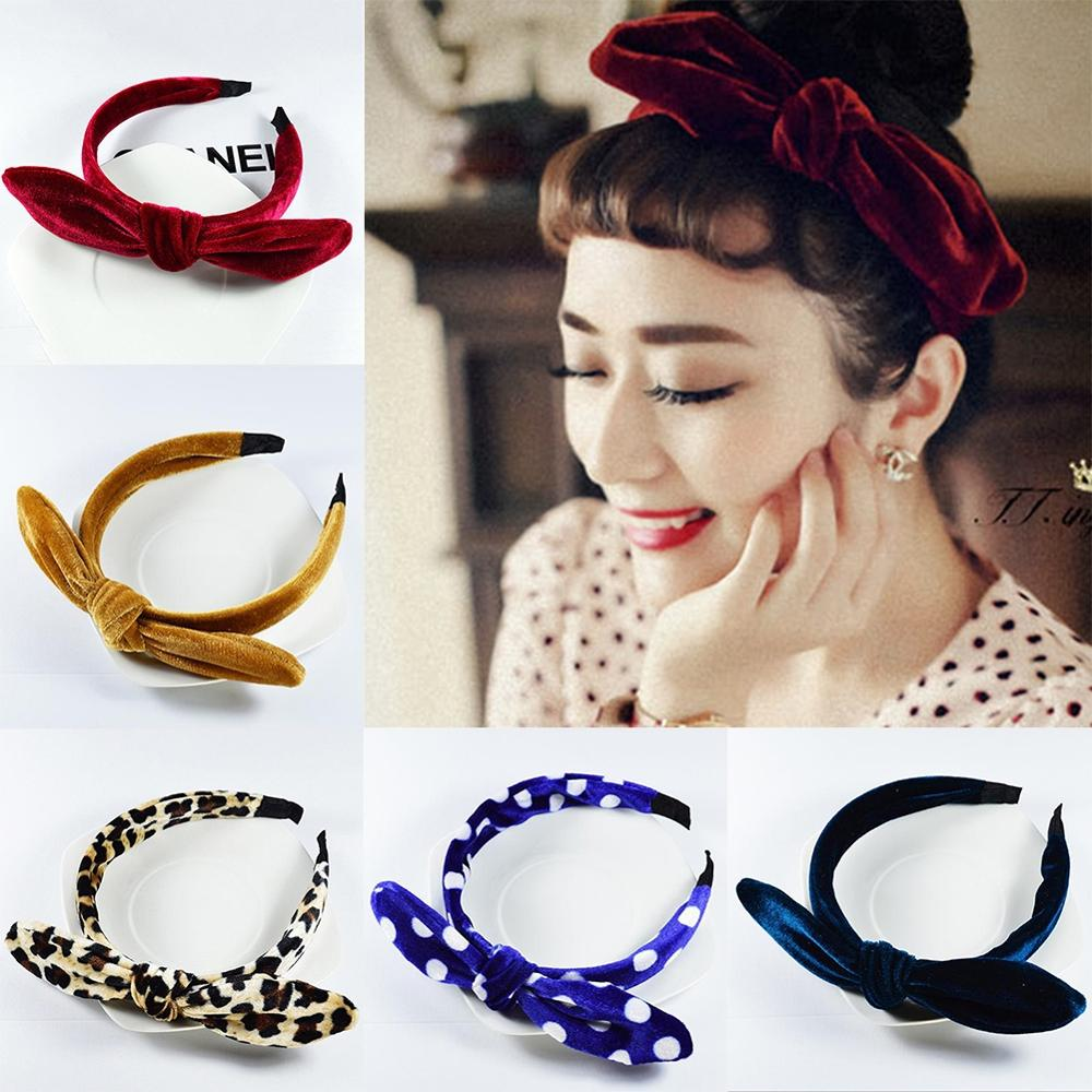 Headband Hair-Accessories Hair-Hoop Girl Fashion Women Ladies Velvet Solid Rabbit
