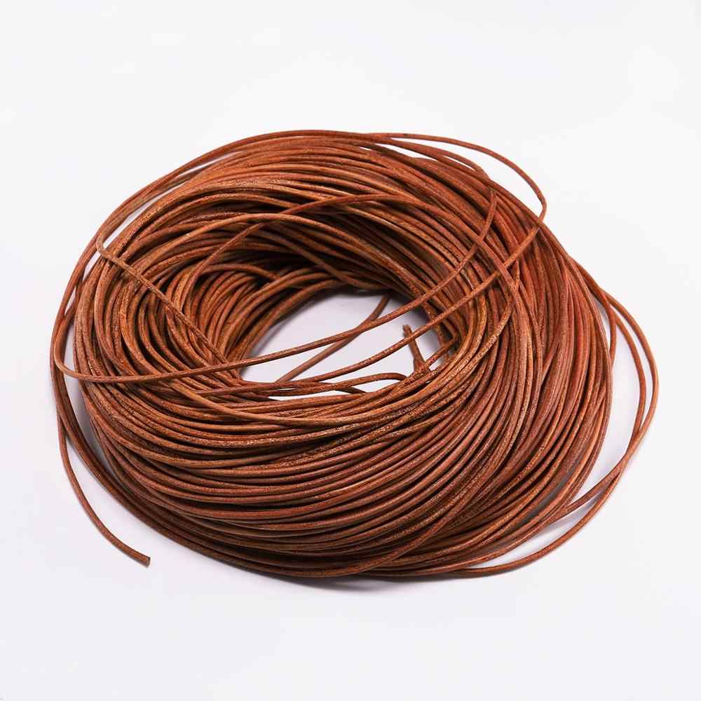 2-5m//lot 1...6mm 3 Color Genuine Leather Cord Round Rope String For Jewelry Brac