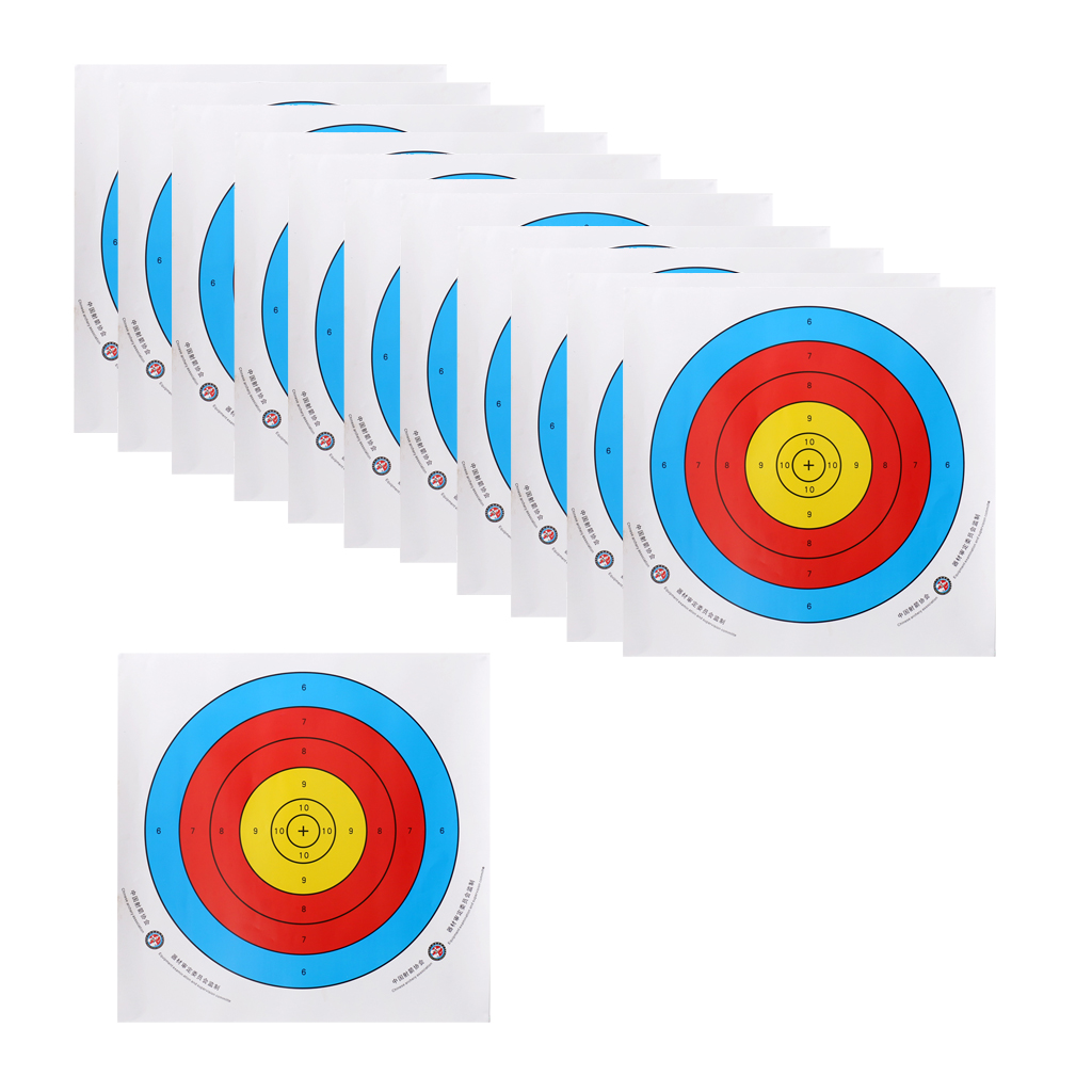 12 Pieces Paper Targets Target Shooting Paper Archery Replacement Accessories for Recurve Bow Longbow image