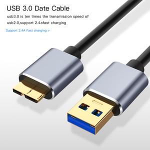 Image 2 - 3.0 USB סוג למייקרו B נתונים סנכרון כבל מהיר מהירות USB3.0 כבל עבור כונן קשיח חיצוני דיסק HDD סמסונג S5 הערה 3 מחבר