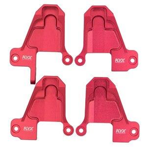 KYX Racing zawieszenie aluminiowe wsporniki Shock Towers ulepszenia część do 1/10 zdalnie sterowany samochód gąsienicowy Traxxas TRX4 TRX-4 części i akcesoria
