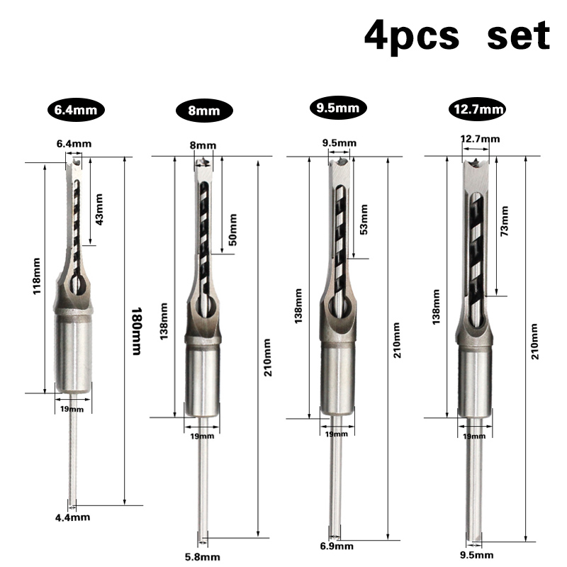 4PCS-HSS-Twist-Drill-Bits-Square-Auger-Mortising-Chisel-Drill-Set-Square-Hole-Woodworking-Drill-Tools(1)