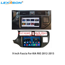 9 Inch Car Fascia For KIA RIO 2012-2015 Panel Dash Mount Installation One Din Double Din Car DVD Frame Trim Kit cheap Fascias 0 85kg Radio Installation Dashboard 25 5cm 25cm only include the frame as picture shows fit 9 inch radio 230x220x130mm
