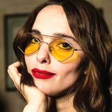 Metal Frame New Polygon Sunglasses Ladies Brand Designer Vintage Sunglasses Sunglasses Double Beam Sexy Fashion Couple Glasses