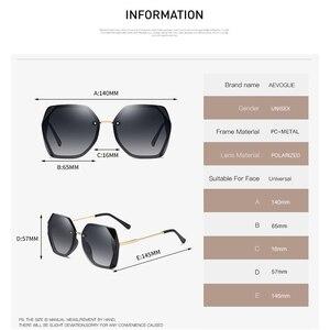 Image 3 - AEVOGUE Neue Frauen Polygon Oversize Mode Reise Polarisierte Sonnenbrille Gradient Lens Fahren Outdoor Brille UV400 AE0818