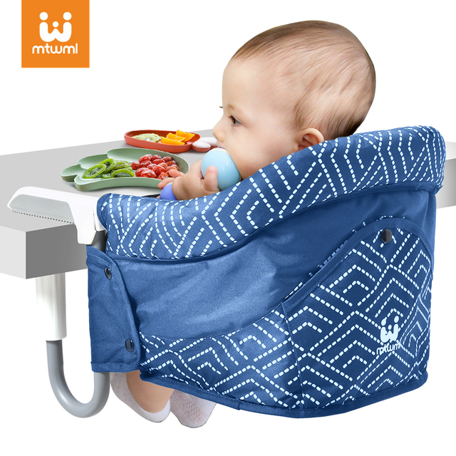 MTWML Portable Baby Highchair Baby Seat For Table Foldable Feeding Chair Seat Booster Safety Belt Harness Dinning Hook on Chair 1