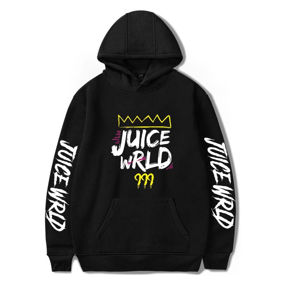 Juice WRLD Hoodies Men Women Sweatshirts Autumn Hooded Harajuku Hip Hop Casual Hoodie Hot Juice WRLD Boys Girls Black Pullovers