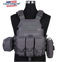 emersongear Emerson Body Armor LBT6094A Style Tactical Vest Plate Carrier W 3 pouches Airsoft Military Army Gear Wolf Gray