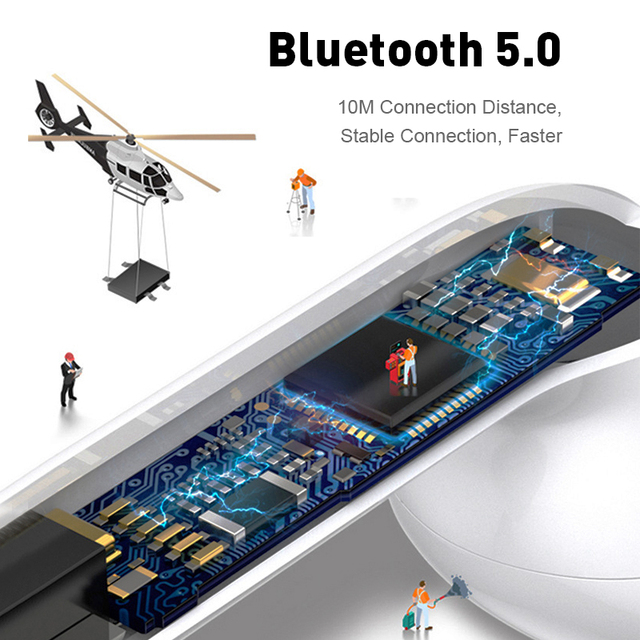 Mini TWS Wireless Earphones Bluetooth 5.0 Earphone Matte Earbuds Headset Wireless Headphones for xiaomi iphone Charging Box 3