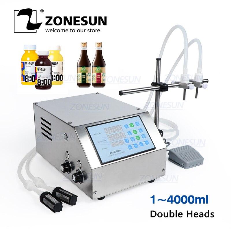 ZONESUN разливочная машина для жидкости с двумя насадками, разливочная машина для воды, напитков, сока, парфюма, флаконов наполнитель бутылок д...