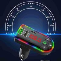 Car Bluetooth5.0 FM Transmitter Kit Wireless Handsfree USB MP3 Audio Player Receiver Auto Backlit LED Charger Music Fast Ty I9X1