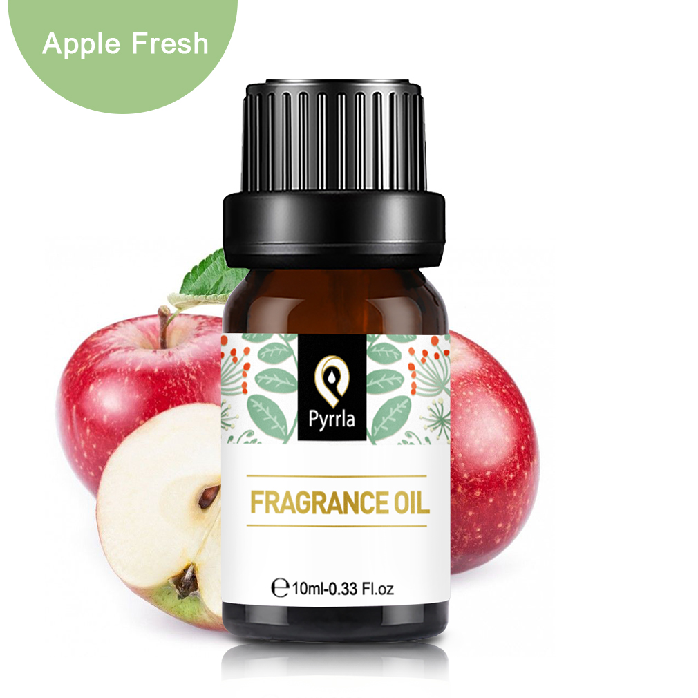Pyrrla 10ml Apple Fresh Fragrance Oil For Aromatherapy Humidifier Mandarin Mango Citrus Sandalwood Fruit Essential Oil Aroma