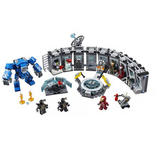 New Super Heroes Marvel 4 Iron Man Hall Armor Compatible Lepinedeily 76125 Building Blocks Bricks Christmas Toys Gifts