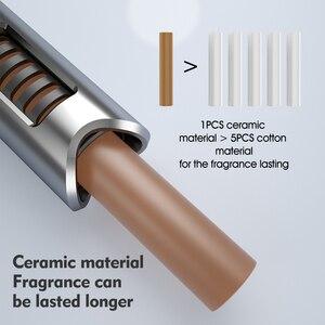 Image 5 - Licheers Luxe Auto Air Vent Parfum Aluminium Ontwerp Auto Luchtverfrisser Parfums Met 4 Effen Essentiële Olie Auto Houder