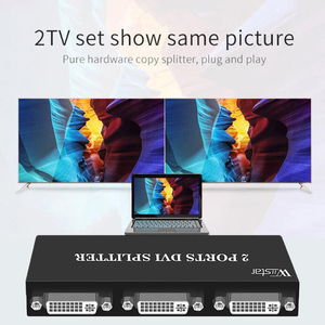 Image 3 - Splitter DVI Wiistar 1X2 DVI D Distribuidor 1 Em 2 Fora 1920x1440 para projetor monitor de computador gráficos cartão