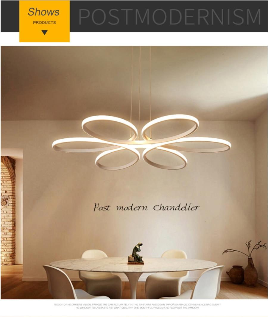 Modern led chandelier lighting for living room bedroom dining room indoor home lustre chandelier lamp AC90v-260v lampadario