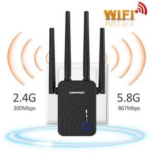 Image 3 - Comfast cf 1200 150mbps のワイヤレス無線 lan エクステンダー無線 lan リピータ/ルーターのデュアルバンド 2.4 & 5.8 ghz 4 wi fi アンテナ長距離信号アンプ
